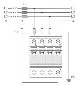 产品中心 直流充电桩防雷器        型号       am40b       标称工作